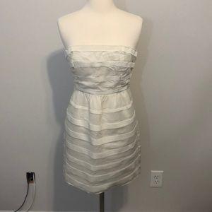 JCrew Rugby Stripe Ginny Dress Size 2 White